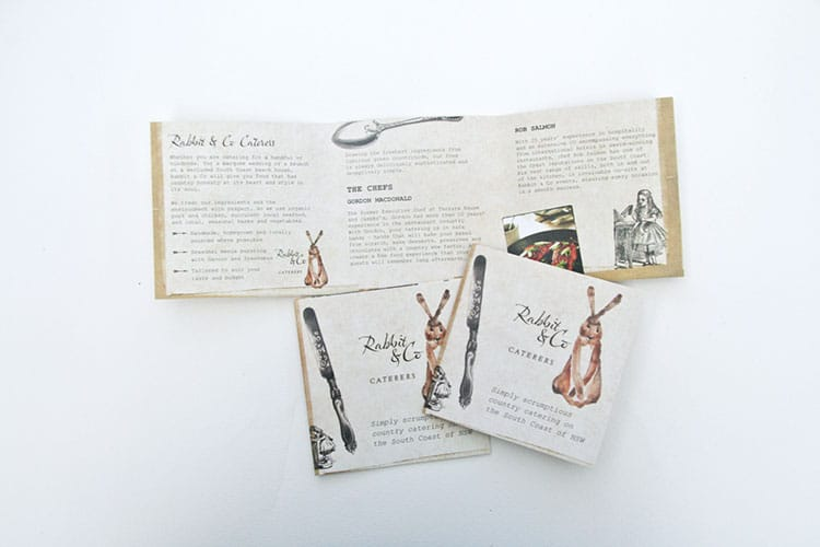 Rabbit & Co Brochure Design South Coast NSW