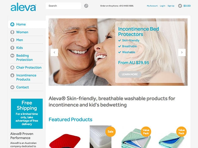 Aleva South Coast Web Design