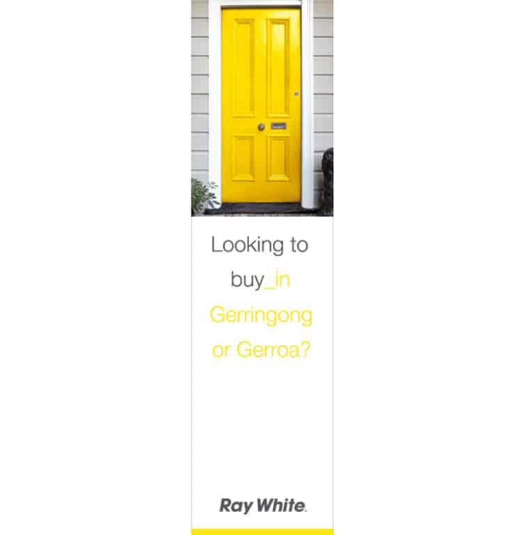 Ray White Gerringong Online Banner Design