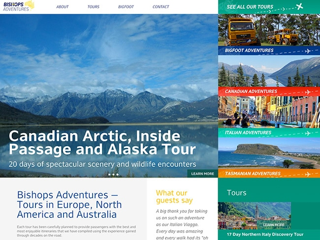 South Coast Web Design | Bishops Adventures