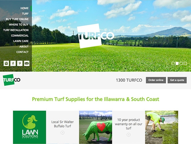 Turf Growers & Suppliers Web Design | Turfco