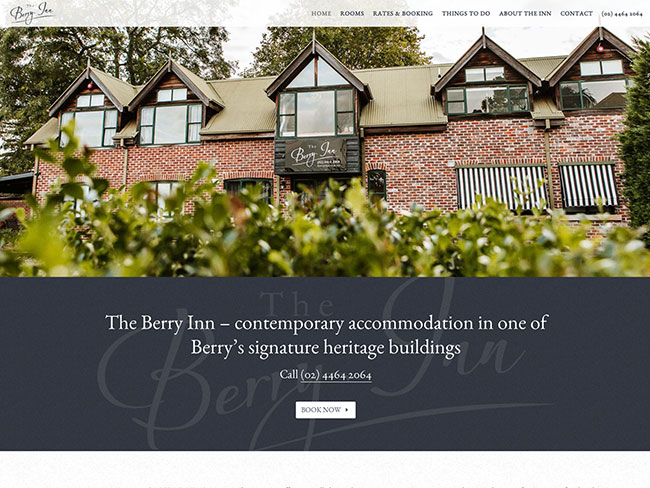 Berry Website Design | The Berry Inn Accommodation
